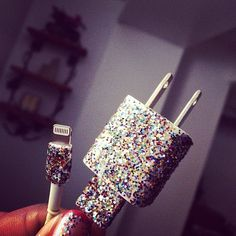Tech Life Hacks   POPSUGAR Tech--use nail polish to decorate chargers (and distinguish between mine and my husband's charger!)