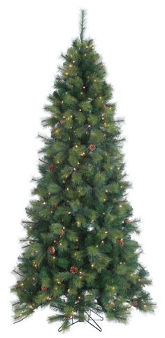 "7.5' x 46"" Hard Needle Monroe Fir Holiday & Christmas Tree with Clear Lights #christmas #dcor #holiday #winter #garden #seasonal #other #home #clear #monroe #needle #tree #with #hard #lights"