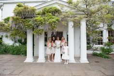 Bridal party at the front entrance