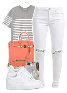 """""""im bored"""" by lovebrii-xo ❤ liked on Polyvore featuring T By Alexander Wang, Hermès, FiveUnits and Gorjana"""