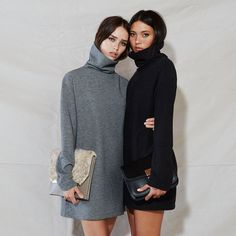 turtleneck dress twinsies #style #fashion