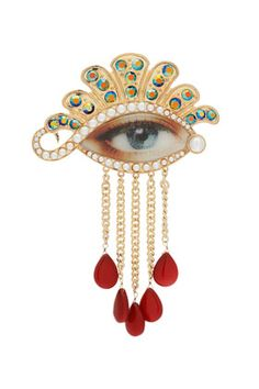 brooch #pin #dangles good upcycling with old pin?