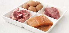 Organismo forte usando alimenti ricchi di proteine