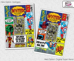Hey, I found this really awesome Etsy listing at http://www.etsy.com/listing/96608181/super-hero-invitation