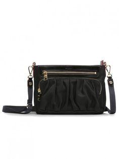 7f05a0aac MZ Wallace Abbey Crossbody Bag in Black Bedford Black Italians, Gold  Hardware, Italian Leather
