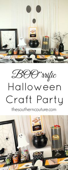 Throw a Halloween craft party with these simple and quick ideas for the whole plan. Get all the inexpensive details at thesoutherncouture.com before your next shopping trip so you can stock up. #BOOItForward