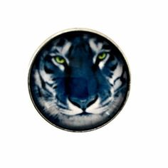 White Tiger Snap Charm 20mm for Snap Jewelry