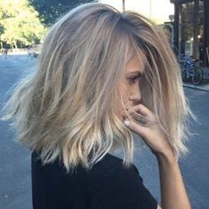 Messy dark blonde by Hair Throne