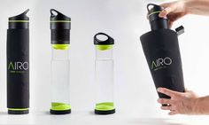 Self-filling Fontus water bottle pulls moisture from the air while you hike or bike | Inhabitat - Green Design, Innovation, Architecture, Green Building