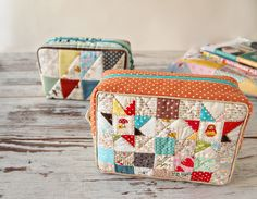 https://flic.kr/p/ksgsqa | box pouch | triangle patchwork box pouch from the…