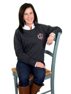 Monogrammed sweater shirt from Initial Outfitters