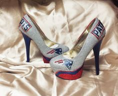 New England Patriots Heels. All Teams, Sizes and Custom orders available.