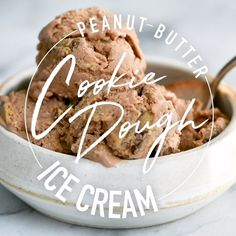 This Dairy-Free Chocolate Peanut Butter Cookie Dough Ice Cream will become your new favorite summer Healthy Peanut Butter Cookies, Peanut Butter Ice Cream, Chocolate Peanut Butter Cookies, Dairy Free Chocolate, Healthy Cookie Dough, Almond Butter, Easy Desserts, Delicious Desserts, Dessert Recipes
