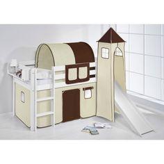 Hochbett mit Rutsche und Turm weiß  - JELLE | High bed with slide and tower #lilokids #hochbett #rutsche
