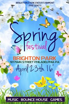 Copy of Spring Festival Free Psd Flyer Templates, Flyer Free, Event Flyer Templates, Poster Templates, Spring Break Party, New Flyer, Festival Flyer, Promotional Flyers, Creative Flyers