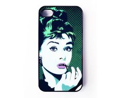Audry Hepburn Iphone 4 Case - via Etsy