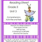 This bundle includes three of my products:  Reading Street Comprehension Unit 3 Grade 3, Reading Street Spelling Unit 3 Grade 3, and Reading Street...