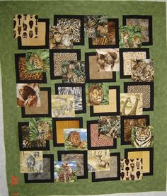 BQ pattern with African animals.   I am planning to make a similar one with forest animals.