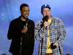 Adam Sandler and Chris Rock at an event for 2013 MTV Movie Awards (2013)
