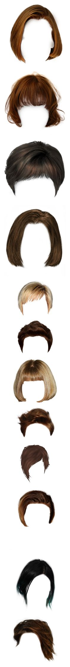 """""""Dolls: Short Hair, Natural Colors"""" by cherubicwindigo ❤ liked on Polyvore featuring hair, doll hair, dolls, wig, hairstyles, wigs, doll parts, blonde, dolls parts hair and beauty products"""