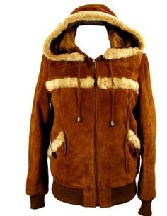 Knoles and Carter Womens Suede Sherpa Bomber Jacket Plus Size with Hood Chest