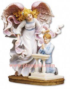 Seraphim Angel Figurine - Communion Angel with Boy