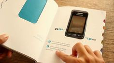 Out of the box - book by Vitamins. An analogue way for the non-digital people to learn about smartphones. Genius.