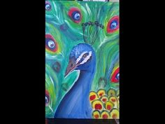 How to paint a peacock with acrylic color tutorial for beginners - YouTube. Please also visit www.JustForYouPropheticArt.com for more colorful art and stories. Thank you so much! Blessings!