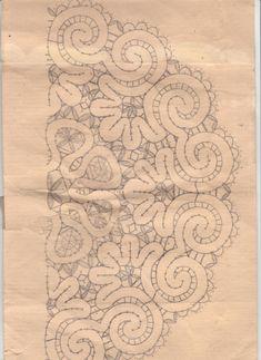 Фотография Bobbin Lace Patterns, Crochet Patterns, Romanian Lace, Lacemaking, Point Lace, Irish Lace, Learn To Crochet, Hand Embroidery, Renaissance
