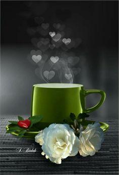 Good morning ~ art cafe, hora do café, morning coffee, coffee break, Coffee Break, Coffee Gif, Good Morning Coffee, I Love Coffee, My Coffee, Coffee Cups, Tea Cups, Gd Morning, Art Cafe