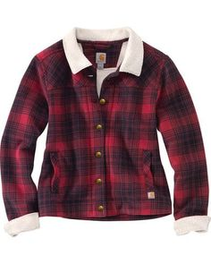 Carhartt Women's Cedar Sherpa Jacket, Red