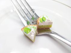 Keylime Pie Earrings Miniature Food Jewelry by AndisaCharmsShop