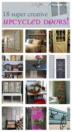 Vintage Doors made into furniture...