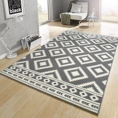 Vul jouw tuin óf woonkamer aan met een vloerkleed Twin Rond - Zwart ...