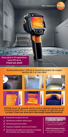 TESTO Romania: Termografie cu 9 bani per pixel! Romania, Electronics, Consumer Electronics