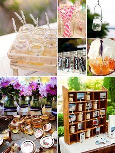 mason jar ideas for weddings etc. Heidi xoxo