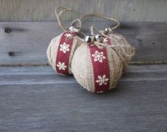 Rustic Christmas Lumberjack Plaid Ornament by SheepStreetDesign