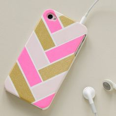 Fun with washi tape - cell phone cover