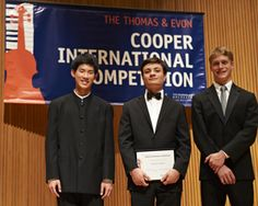 Cooper International Piano Competition winners 2012.