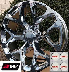 "24"" inch 24 x10"" GMC Sierra 1500 OE Replica Wheels Snowflake Rims Chrome +31 · $1,599.00 Chevy Silverado Ss, Silverado Wheels, 24 Rims, Avalanche Truck, Racing Rims, Replica Wheels, Wheel And Tire Packages, Aftermarket Wheels, Rims For Cars"