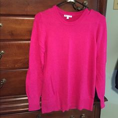 Hot pink sweater Hot pink sweater.  Super soft.  Like new condition.  No snags or pilling. If your interested I'll lower to get you cheep shipping GAP Sweaters Crew & Scoop Necks