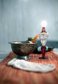Badezimmer, Dekoration - Schale, Handschuh, Hammam