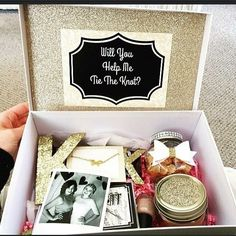 "DIY Bridesmaid Proposal Box - Using items from Hobby Lobby, Michaels & Dollar Tree! #wedding #bridesmaids #DIY More [ ""DIY Bridesmaid Proposal Box - Using items from Hobby Lobby, Michaels & Dollar Tree!"", ""Super fun idea to ask the girls!"", ""Make coasters for each person"" ] # # #Bridesmaid #Proposal #Box, # #Bridesmaid #Boxes,"