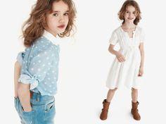 Lovely blue sky elephant print blouse or a white jacquard dress for the SS 2012 Zara's little girls.