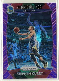 2015/16 Prizm Basketball Stephen Curry Purple Refractor Prizm All-NBA Card 16/99 #NBAGoldenStateWarriors