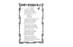"""Song Lyrics for a piece about John Merryman """"Old Dan Tucker"""" (Library of Congress)"""