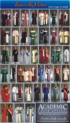 Church Choir Robes Catalogs | Choir Robes Thumbnails Choir Uniforms, Choir Dresses, Gown Pictures, Church Fashion, Moda Casual, Roman Catholic, International Fashion, African Fashion, Religion