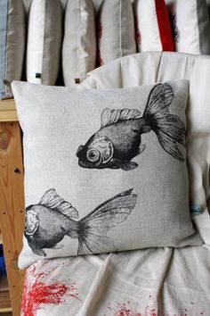 fish pillows $55
