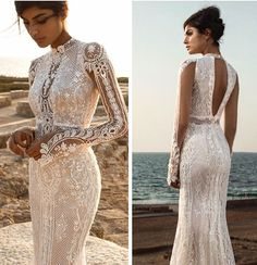 Image in wedding dresses/bridal collection by Ruyi Wedding Dress Types, Boho Wedding Dress, Dream Wedding Dresses, Bridal Dresses, Wedding Gowns, Marie Laporte, Long Sleeve Wedding, The Dress, Beautiful Dresses