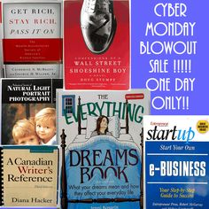 CYBER MONDAY BLOWOUT BOOK SALE !! ~ ONE DAY ONLY! : )